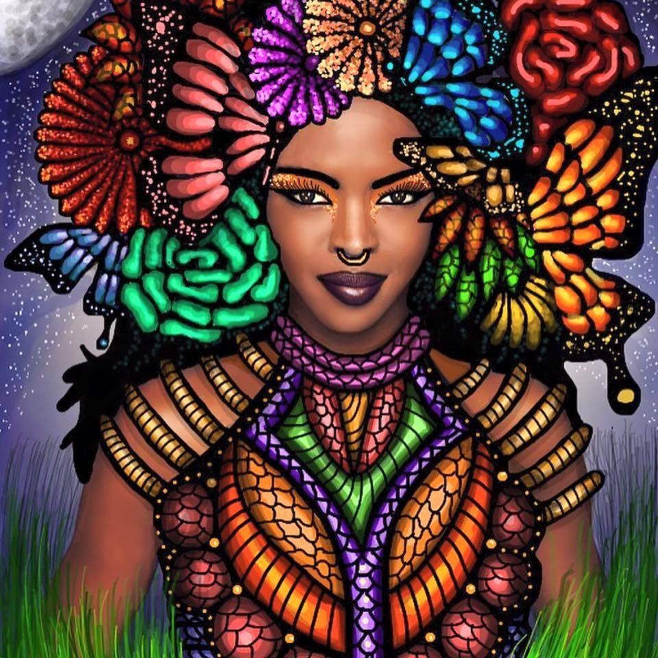 Art Thick East African Girl Black Women