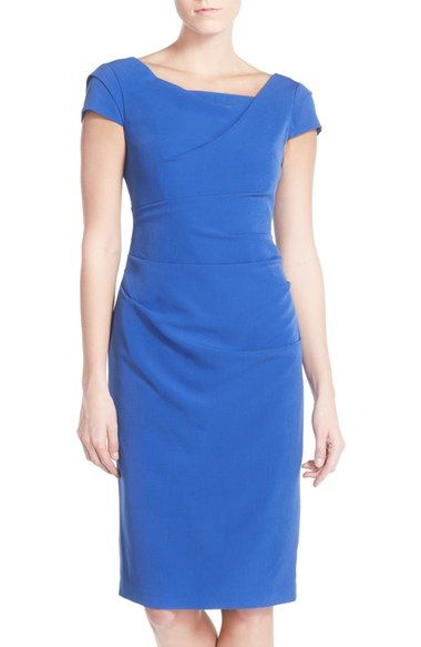 Adrianna Papell Ruched Matte Jersey Sheath Dress (Regular & Petite) available at #Nordstrom
