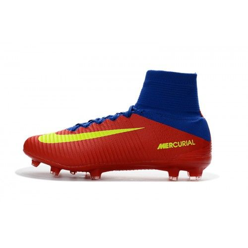 Kopen Goedkoop Nieuwe Nike Mercurial Superfly V Fg Rood Blauw Geel Voetbalschoenen Nl Football Boots Primary Colors Yellow