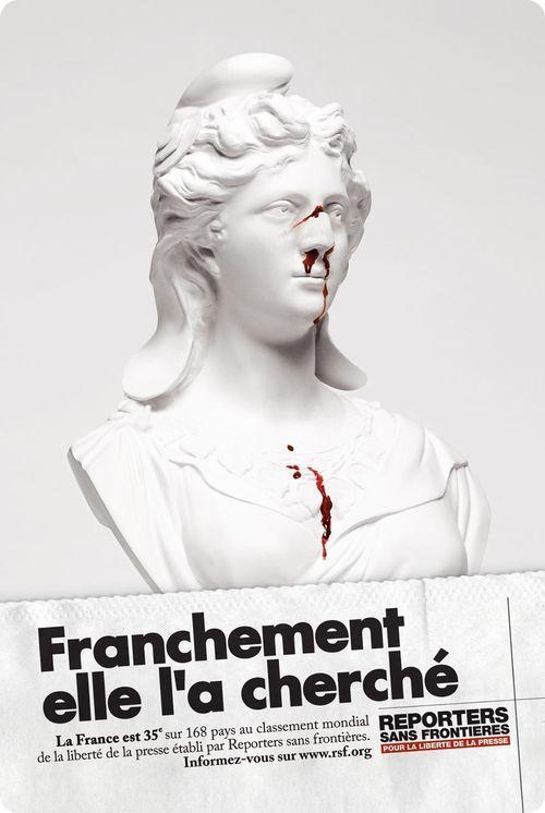 Top 24 Des Meilleures Affiches Chocs De Reporters Sans Frontieres Reporters Sans Frontieres Liberte De La Presse Marianne Republique