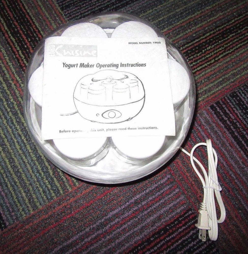 Euro Cuisine Yogurt Maker 7 Jars And Manual Model Ym80 Guc Ready