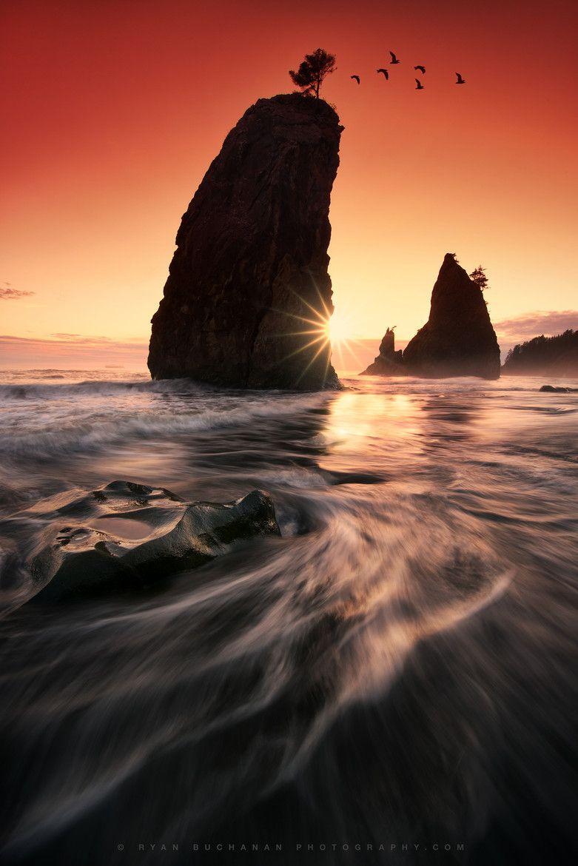 Onward by Ryan Buchanan Rialto Beach, Olympic National Park, Washington, USA