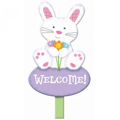 Welcome Bunny Lawn Sign - http://www.247babygifts.net/welcome-bunny-lawn-sign/