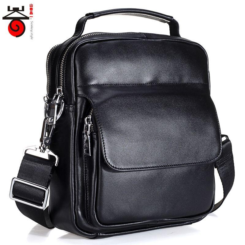 6b463ab0a1 Vintage Genuine Leather Men Bag Fashion Crossbody Bag Shoulder Designer Men  Messenger Bags Famous Brand Casual