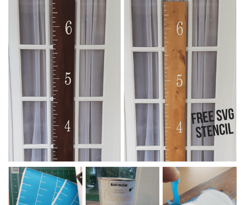 DIY Over Sized Ruler Growth Chart with Free Stencil SVG in