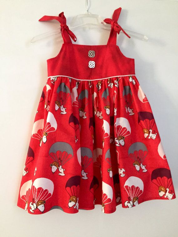 Girls Dress / Toddler Dress / Snoopy Print / by LulasBabyBoutique ...