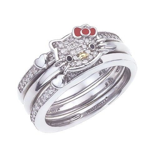 ea8caf82b Would it be bad if I wanted a Hello Kitty wedding set??? | Jewelry ...
