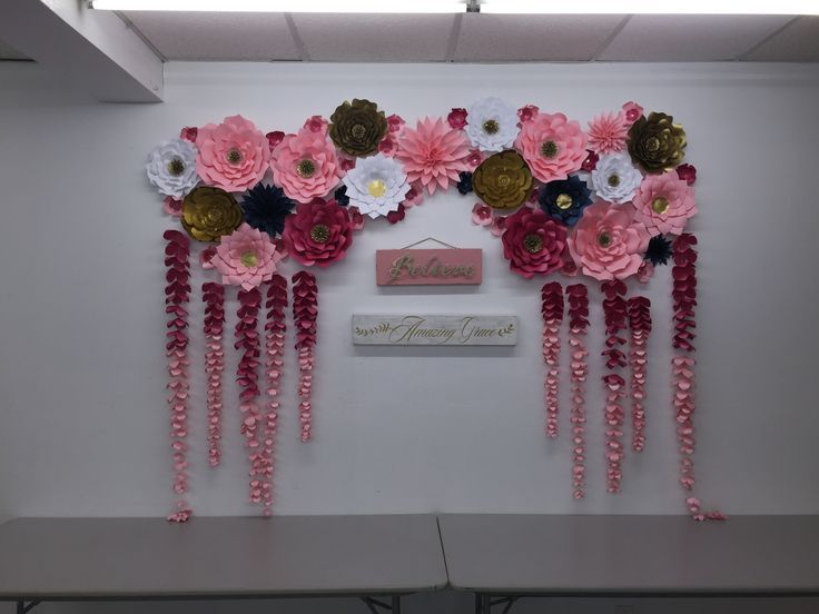 Large Paper Flowers Backdrop Wedding Arch Photo Booth Flower Wall Birthday Pary Nursery Art Custom Bridal Shower Princess Ready To Ship