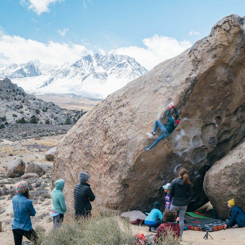 Heroes of the Women's Climbing Festival Rock climbing