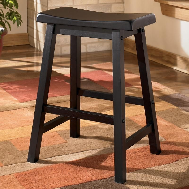 Unique 24 Backless Wood Bar Stools