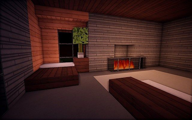 Squared Modern Home design building ideas patio pool 10 | Minecraft ...