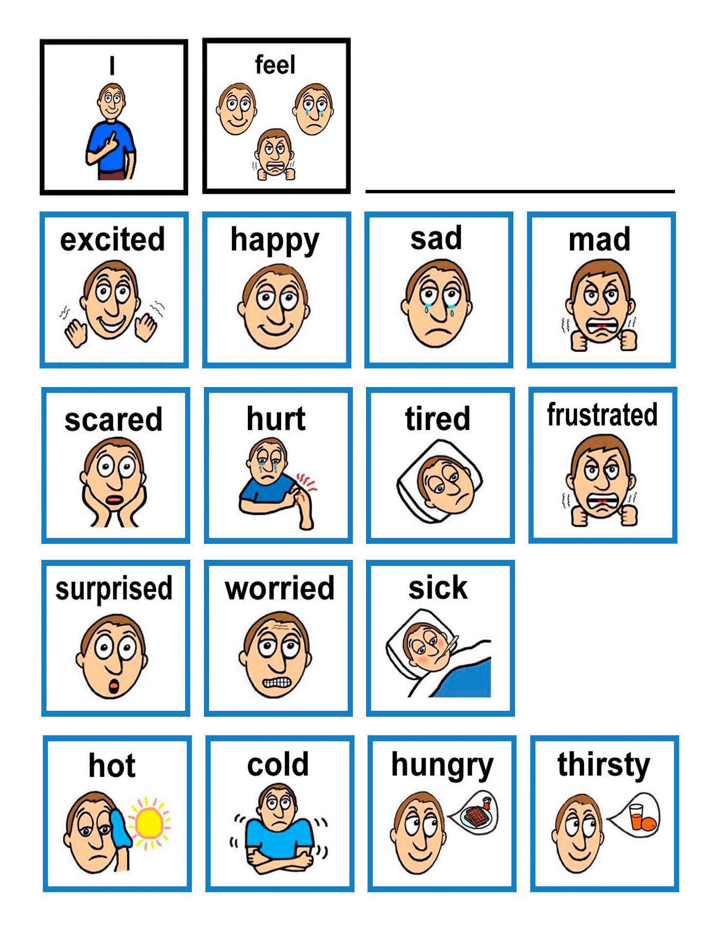 Emotion Flash Cards Children With Autism Often Have