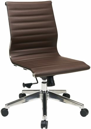 Task Office Chairs Contemporary Armless Office Chair By Office Star Leather Office Chair Office Chair Leather Chair