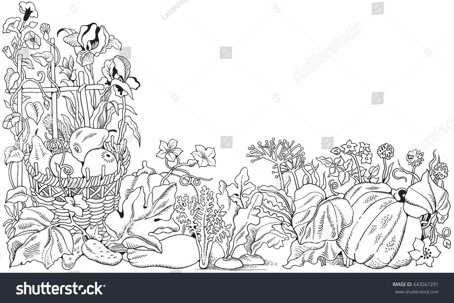 stock-vector-vector-decorative-corner-of-flowers-vegetables-and ...