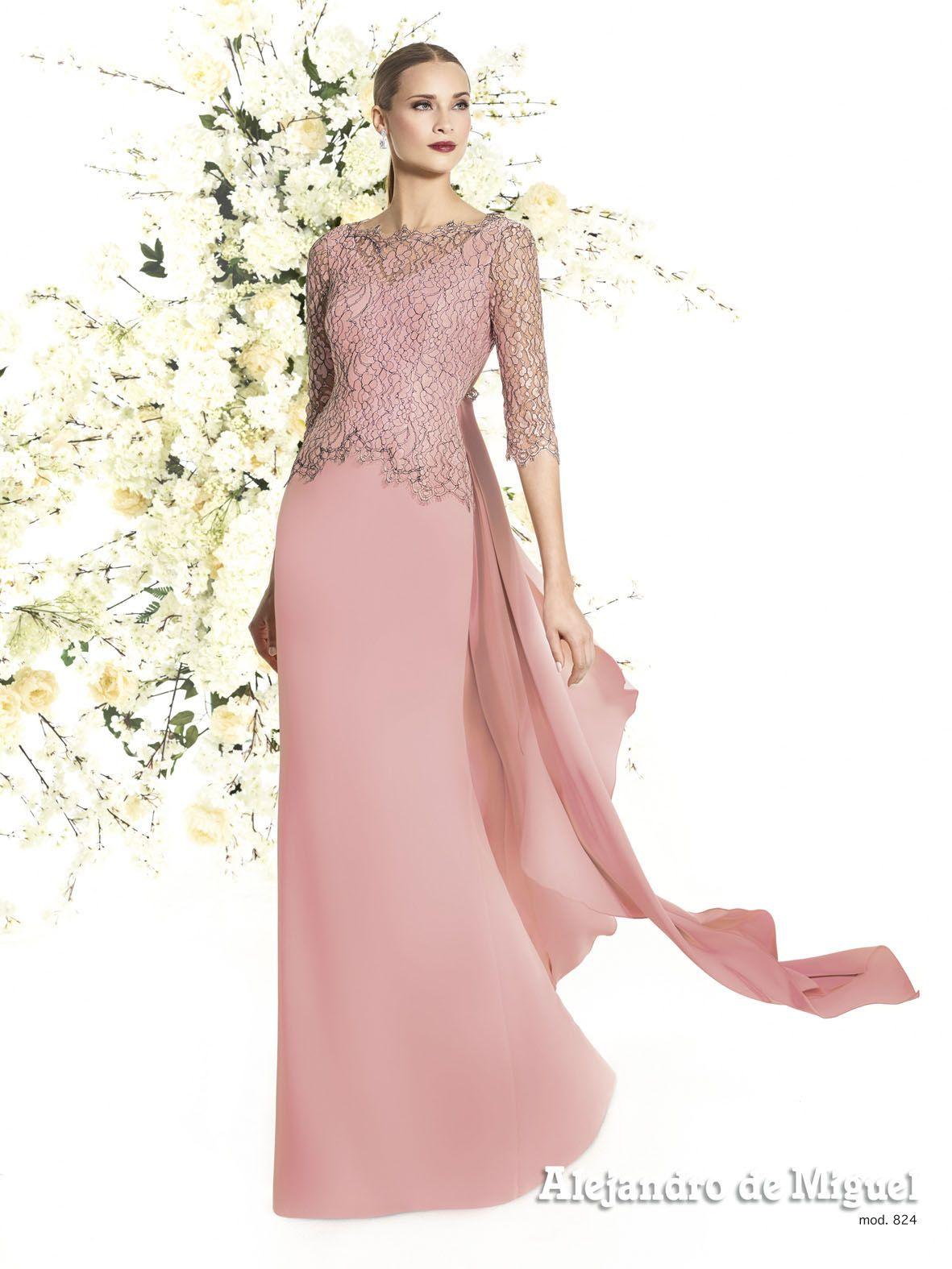 Alejandro de Miguel | Vestido Largo – mod. 824 | boda | Pinterest ...