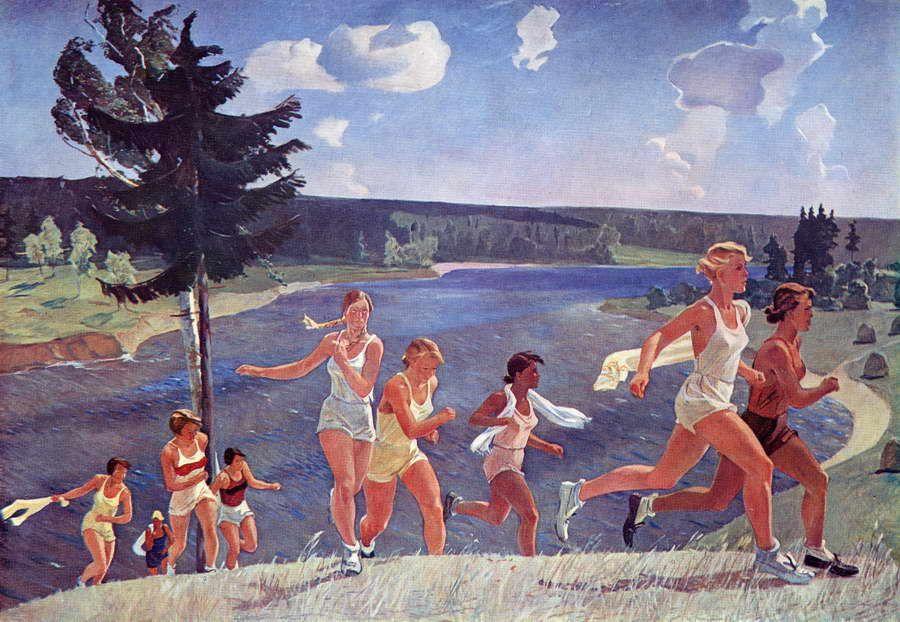 Alexander Deineka. Painting. Expance. 1944