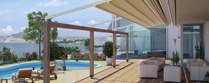 Terrassengestaltung Ideen Bilder Einmaliges Haus Mit Terrasse Und ... Terrassen Design Meer Bilder