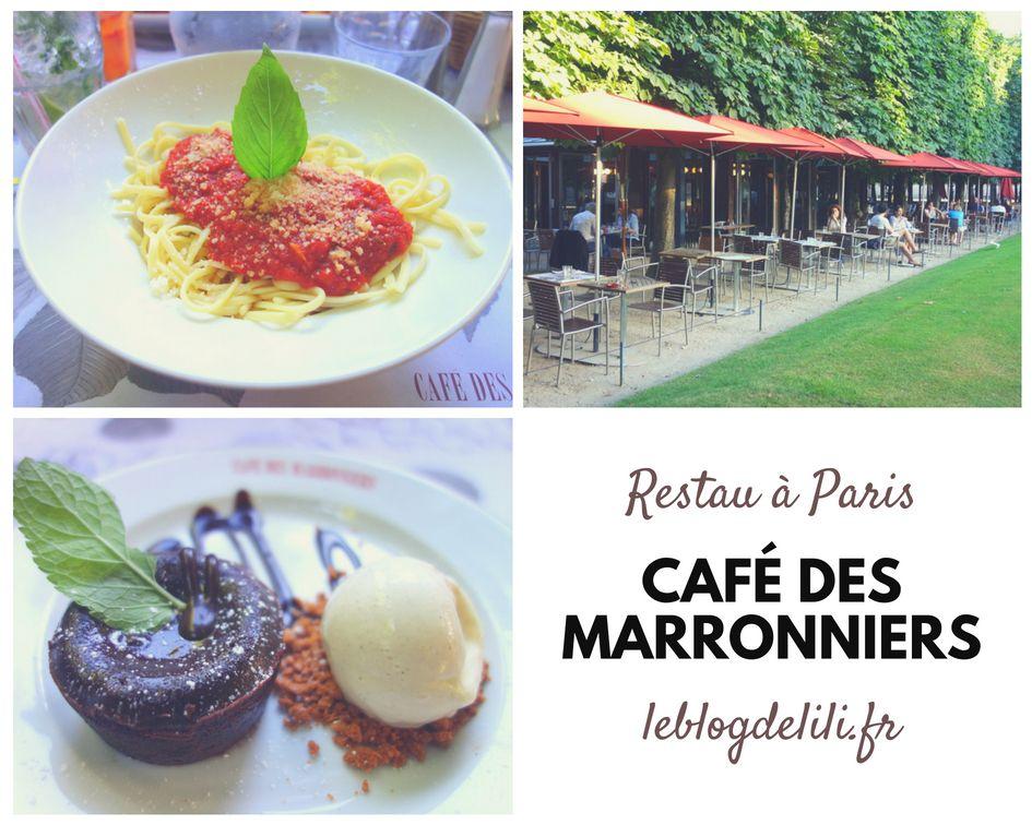 Un Diner Au Cafe Des Marronniers Au Jardin Des Tuileries Avec