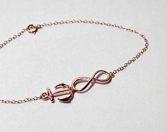 Infinity Anchor Bracelet in Rose GoldFaith HopeLove Bracelet