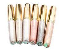 3 unids/lote 6 colores eyeliner metal colores lápiz delineador de ojos cosmética del ojo del maquillaje envío gratis