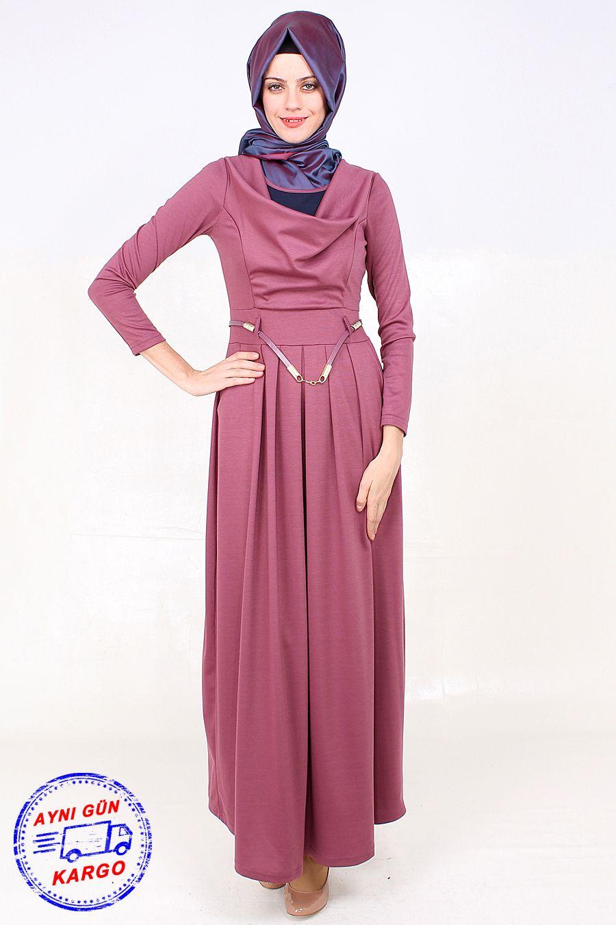 Bol Yaka Cepli Gul Kurusu Tesettur Elbise Modeli Viskon Kumastan Uretilmis Olup 145 Cm Boyundadir Urun Astarsizdir Fashion Hijab