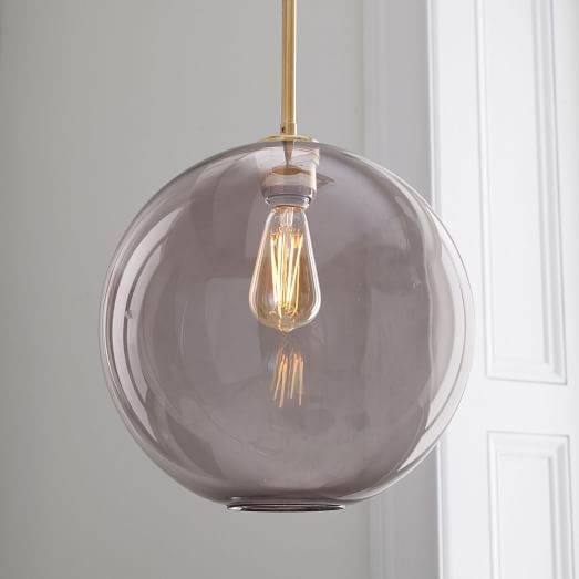 Sculptural Glass Globe Pendant Large Glass Globe Pendant Light