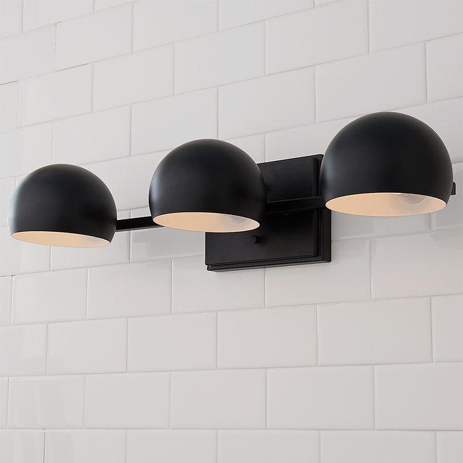 Pin On Light, Modern Bathroom Light Fixtures Matte Black