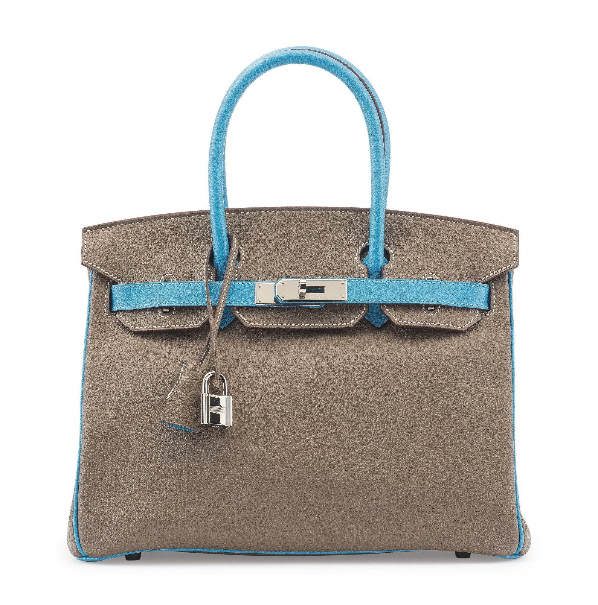 e4893ab1ec1d Hermès special order horseshoe 30cm chèvre leather Birkin bag with  palladium hardware