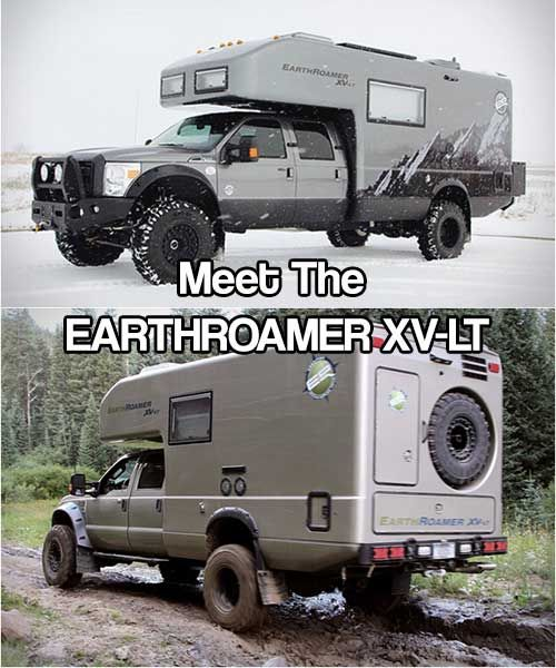 meet the earthroamer xv lt best bug out vehicle ever rv camping. Black Bedroom Furniture Sets. Home Design Ideas