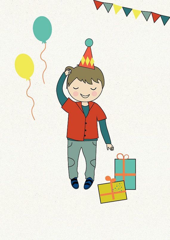 Portrait Illustration Boy Illustration Birthday Illustration