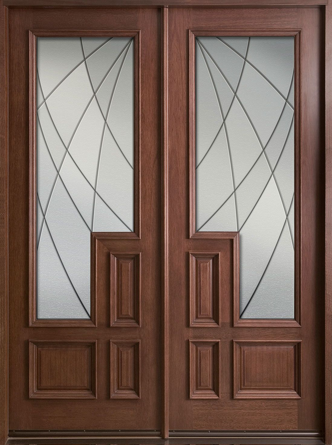Inspiring double fiberglass entry door as furniture for for Modern front double door designs