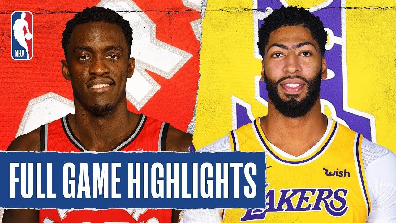 RAPTORS at LAKERS | FULL GAME HIGHLIGHTS | November 10, 2019 - YouTube |  Nba league, Nba league pass, Full games