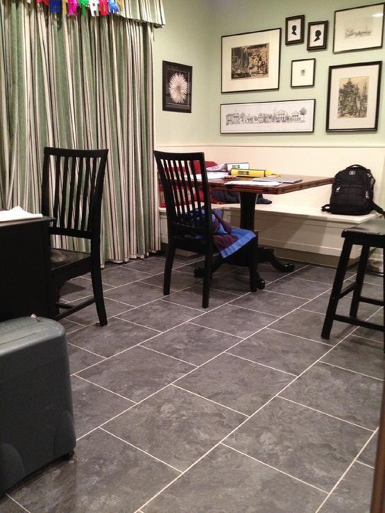 Gray, Charcoal, Floor, Armstrong Mesa Stone Charcoal