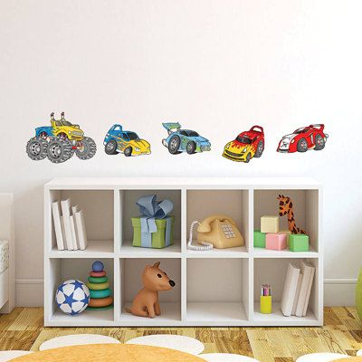 Race car wall stickers fabric wall decals removable reusable repositionable