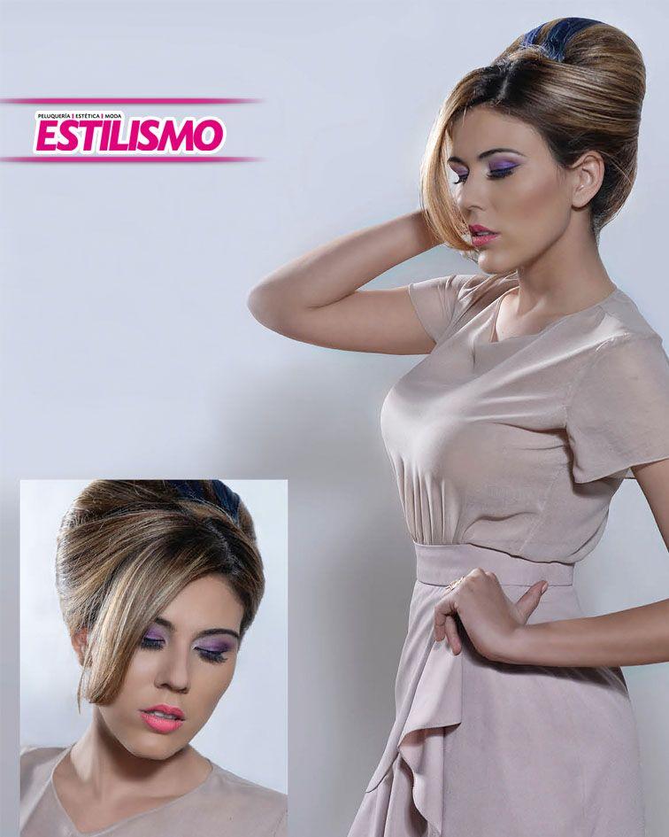 VOLUMEN GLAMUROSO - Mary Lizzie Ortiz, presentó un recogido elegante y refinado, con aspecto más elaborado y que llama la atención por la creatividad con la que se armó el look.