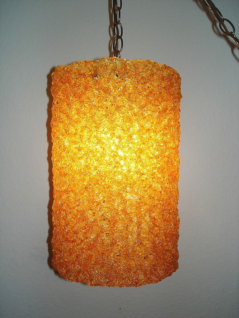 Set of retro spaghetti orange hanging lamp funky finds