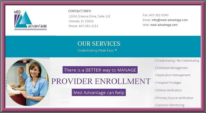 Provider Enrollment Companies Usually Maintain A Database Of The