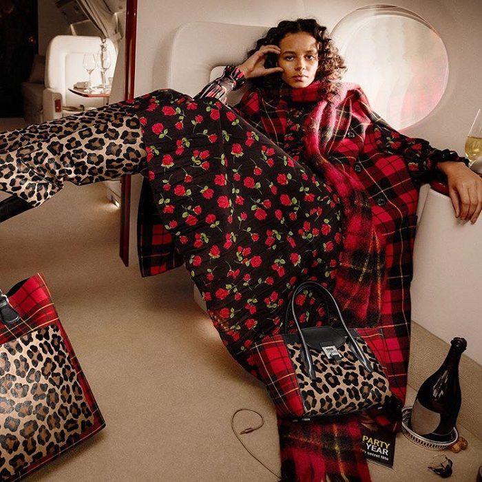 22f4d53284bf #versace #leopardpants#multicoloredleggings #plaidcoat #dress  #cherryprintdress #michaelkors #falloutfit