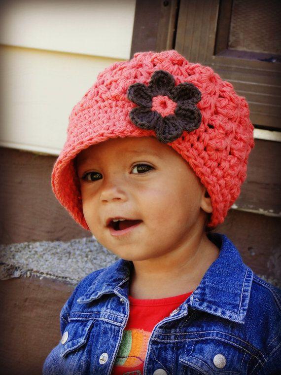 Crochet Baby Hat, kids hat, crochet newsboy hat, hat for girls ...