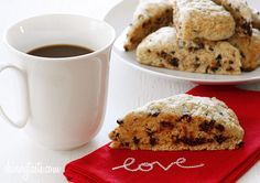 Skinny Chocolate Chip Buttermilk Scones - Buttermilk scones sweetened just to perfection studded with chocolate chips.