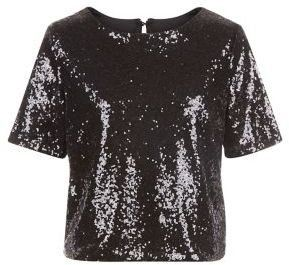 Pin for Later: 44 Alternatives à la Collection Balmain x H&M  New Look Amalie & Amber - Crop top noir à sequins  (60€)