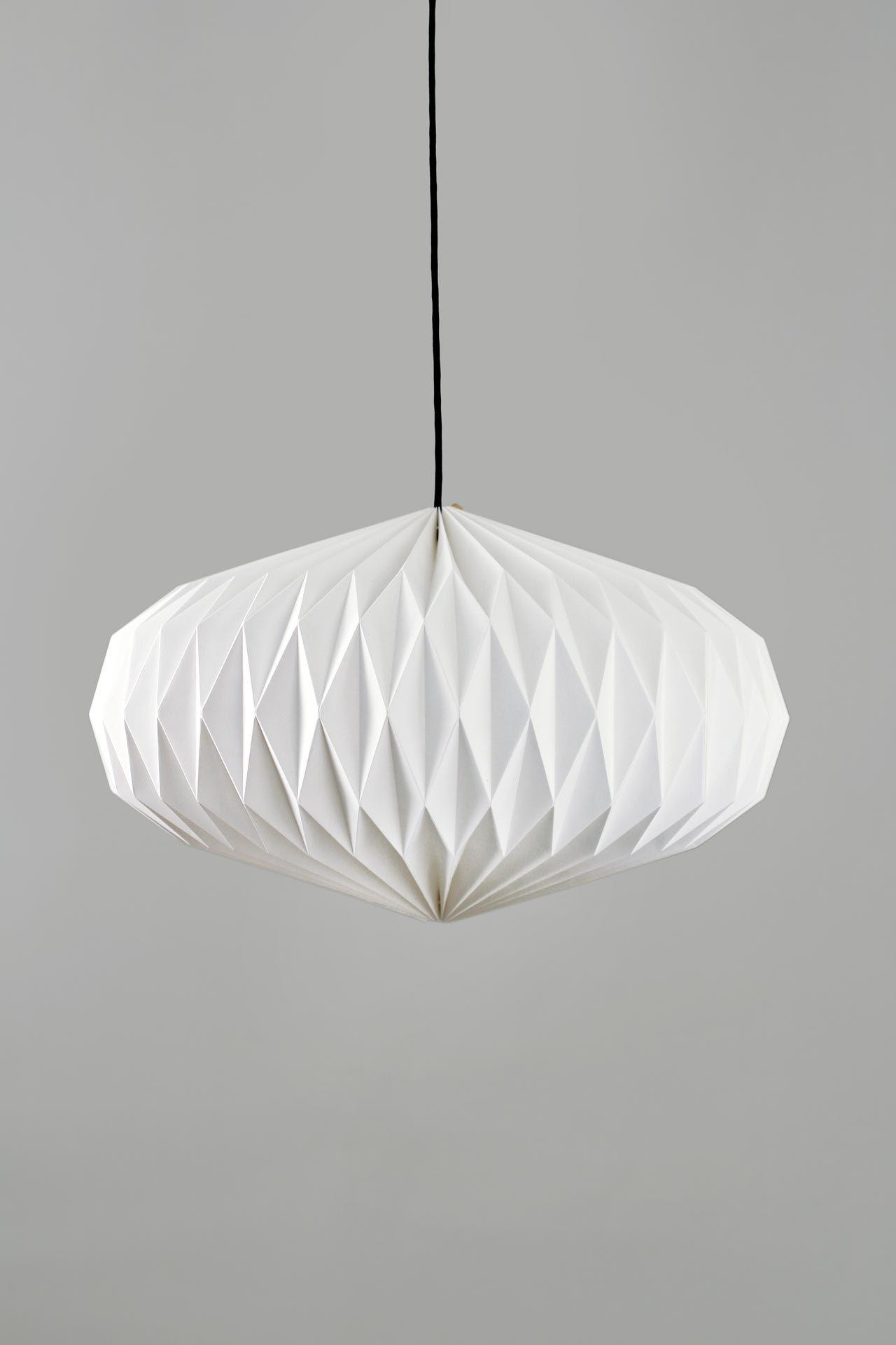 handgefalteter lampenschirm linse gro mit textiler oberfl che mit liebe handgefertigt bringt. Black Bedroom Furniture Sets. Home Design Ideas