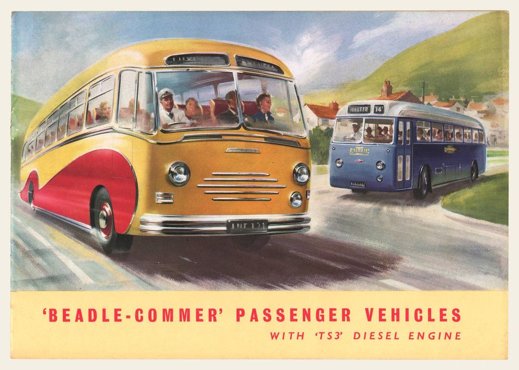 1955-1956 Beadle Commer Bus Sales Brochure Bus sales, Brochures - sales brochure