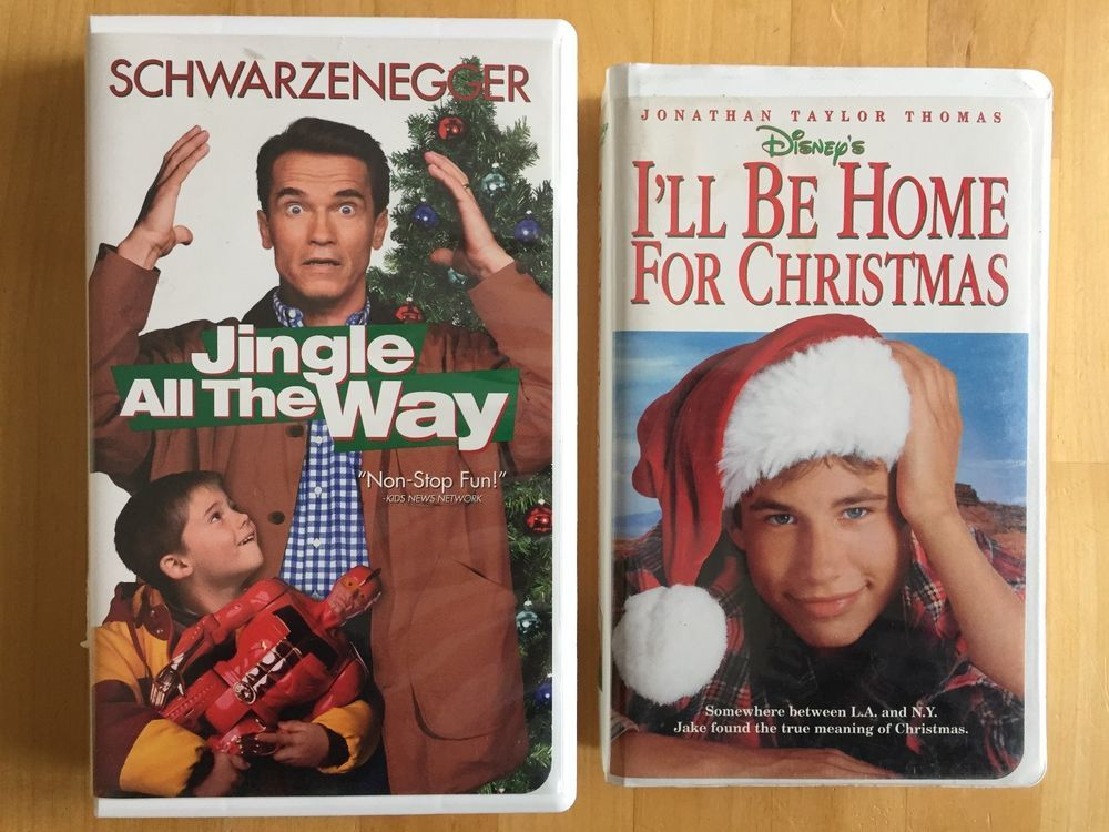 Ill Be Home For Christmas Vhs.Lot Of 2 Vhs Family Movies Schwarzenegger Jingle All The Way