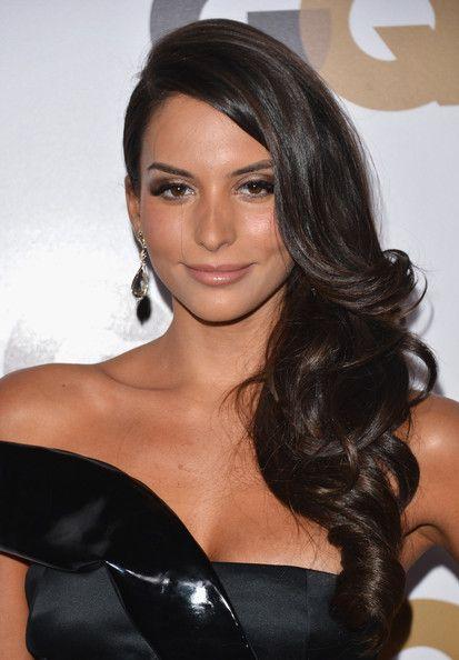 Genesis Rodriguez Side Sweep Pageant Hair Bridesmaid Hair Long Hair Styles