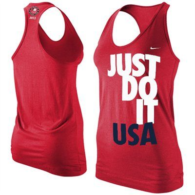 Nike Team USA London 2012 Ladies Just Do It Racerback Tank Top - Red gimme! 7fa01eaae26