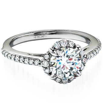 Hearts On Fire Sensation Engagement Ring...an illusion of an oval, with the brilliance of a round.