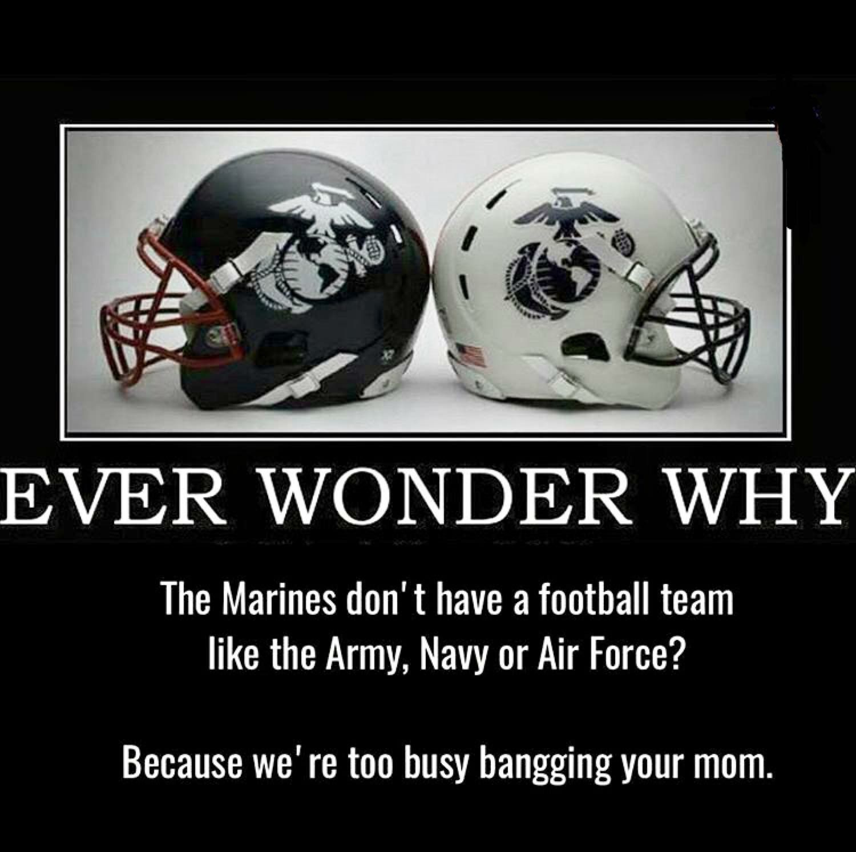 Marines vs navy vs army vs air force football army humor
