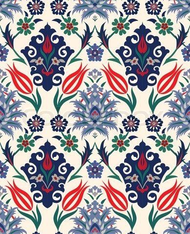 Abstract Retro Seamless Floral Background Paper Textile Vintage Wallpaper Texture Royal Vector Pattern Flower Fabric Illustration