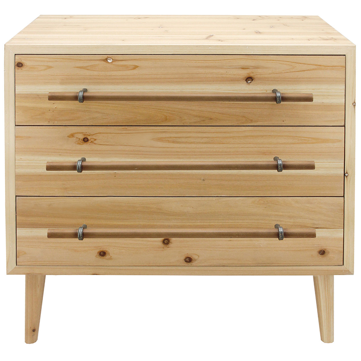 Unstained Pine Drawer Fronts With